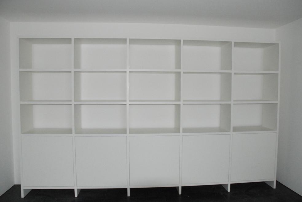 b cherregale aus massivholz oder wei lackiert je nach. Black Bedroom Furniture Sets. Home Design Ideas