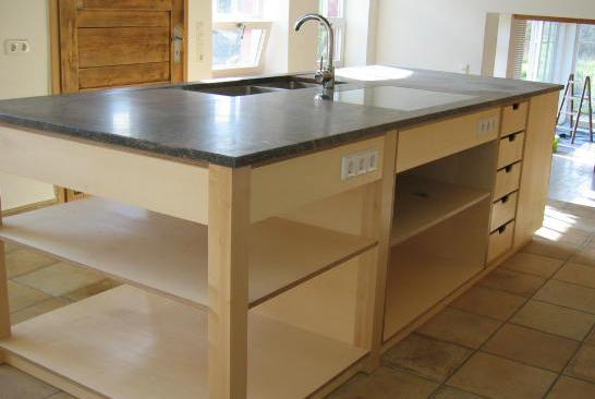 moderne küchen aus massivholz auf maß - Küche Mittelblock