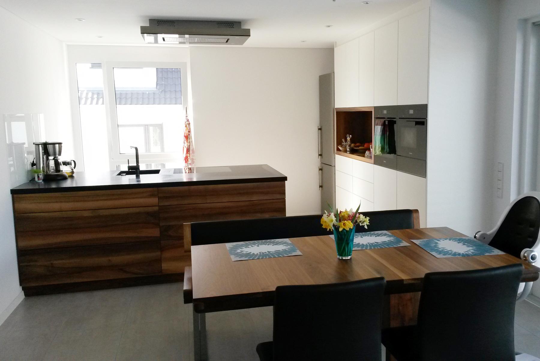 Design küche im ess wohnbereich
